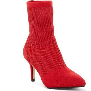 🔥Catherine Malandrino Red Glitzy Sock Boots 🔥